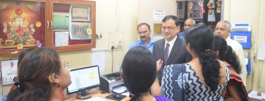 Visit to ADIP Cochlear Implant Unit by Dr. Prabodh Seth, JS, DEPwd, MSJE, Govt. of India
