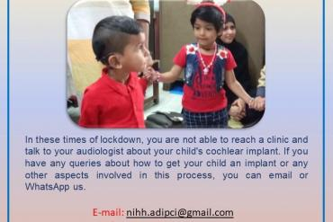Contact details for Support/queries  regarding ADIP Cochlear Implant