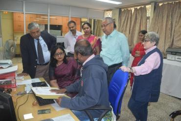Demonstration of Unique ID process to Smt. Tarika Roy, JS (ADIP), Govt. of India
