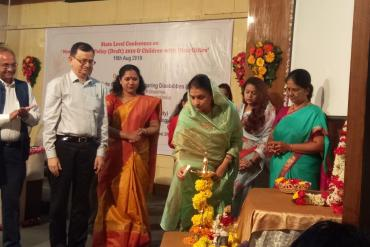 """State Level Conference on """"New Education Policy (Draft) 2019 & Children with Disabilities"""" on 16 Aug 2019 organized by AYJNISHD & Bharti Vidyapeeth at Pune"""