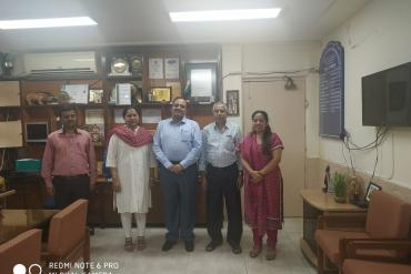 Visit of Shri Kishor B Surwade, Deputy Director General, DEPwd,MSJE, New Delhi on 15.10.2019