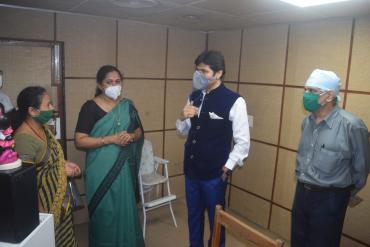 Visit of Dr.Yogesh Dube, EC Member