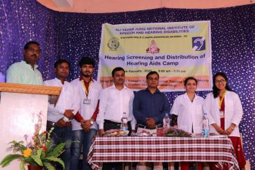 Hearing Screening and Distribution of Hearing Aids camp