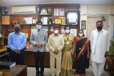 Visit of  Dr.Thaawar Chand Gehlot, Hon. Union Minister for Social Justice and Empowerment