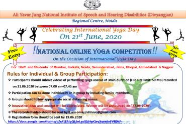National Online Yoga Competition on International Yoga Day, 21st June 2020